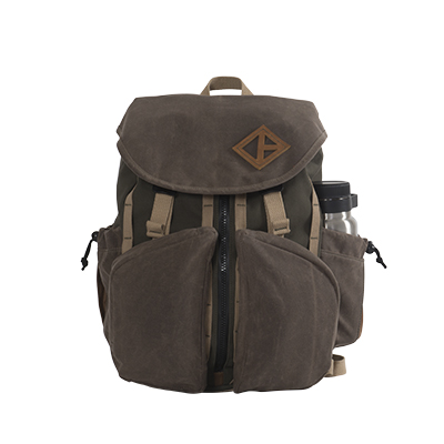 Pine Wax Canvas Great Day Backpack Front