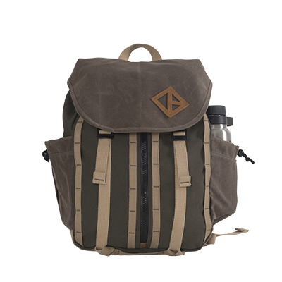 Pine Wax Canvas Great Day Backpack
