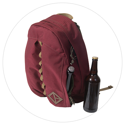 Maroon Belay Bag Pockets