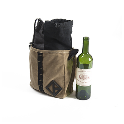 Waxed Canvas Wine Bag