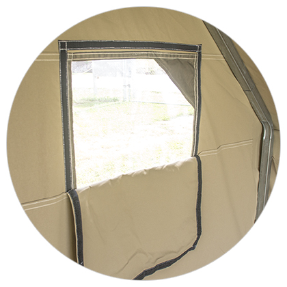 Camping Scout Canvas Wall Tent Window