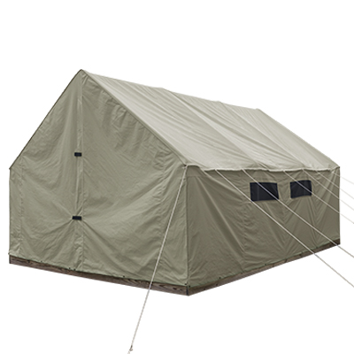 12ft by 16ft Scout Canvas Wall Tent With Windows Suntan