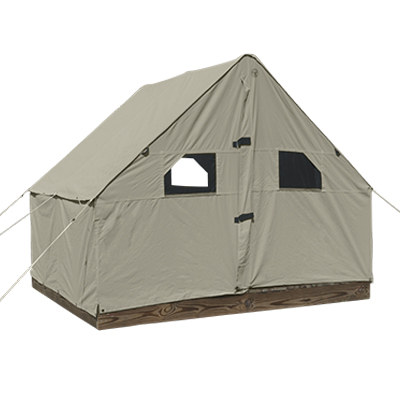 7ft by 8ft by 10ft  Scout Canvas Wall Tent With Windows Suntan