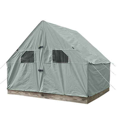 9'6 x 7'6 Scout Canvas Wall Tent With Windows Pearl Grey