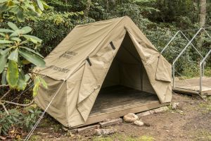 outside of wall tent