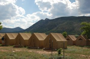 The Wall Tents at Philmont Basecamp