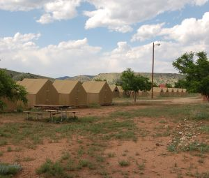 Wall Tents at Philmont Basecamp